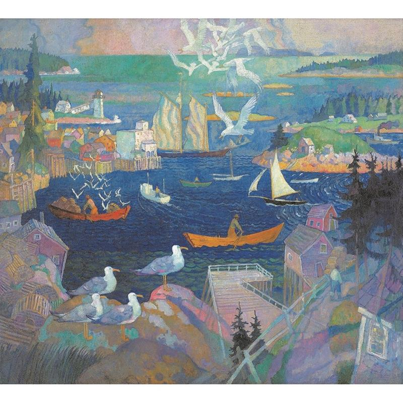 Harbor at Herring Gut Print — N.C. Wyeth