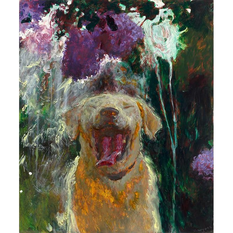 Dog Under Lilacs In a Downpour Print — Jamie Wyeth,65858