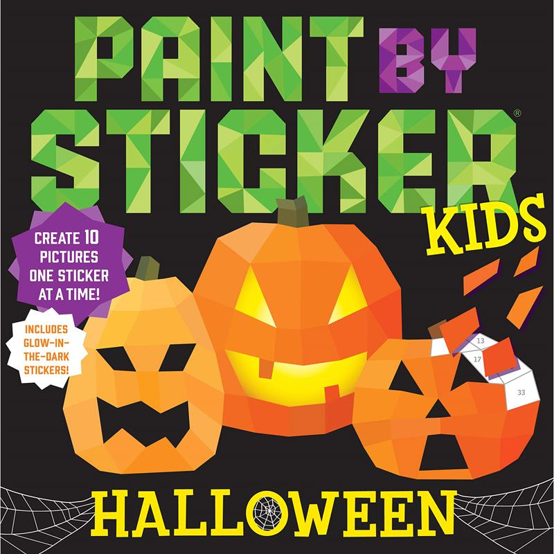 Paint By Sticker Kids Halloween,100614